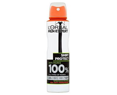 Antiperspirant ve spreji pro muže Shirt Protect 150 ml - SLEVA - ulomená vrchní část rozprašovače - rozprašovač funkční