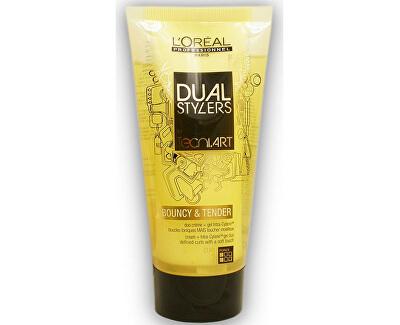 Loreal Professionnel Dvousložkový gel krém pro definici vln (Dual Stylers Bouncy&Tender Duo Creame + Gel) 150 ml