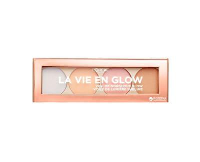 Rozjasňující paletka Wake Up & Glow La Vie En Glow 5 g - SLEVA - poškozený obal