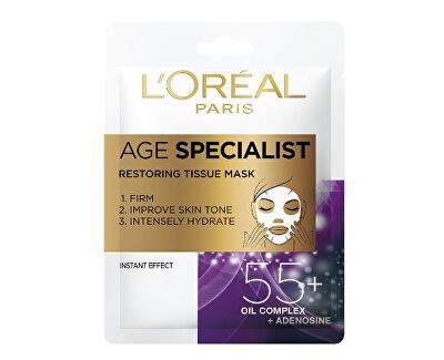 Textilní maska pro intenzivní vypnutí a rozjasnění pleti Age Specialist 55+ (Restoring Tissue Mask) 1 ks