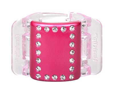 Linziclip Střední skřipec MIDI - perleťově růžový s krystalky