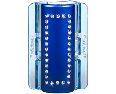 Linziclip Velký skřipec MAXI - perleťově modrý s krystalky