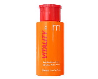 Čisticí voda VITALITY by m (Miscellar Water 3 v 1) 200 ml