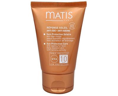 Protivrásková péče na opalování obličeje SPF 10 (Sun Protection Care Anti-Ageing Cream for Face) 50 ml