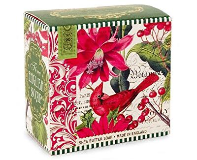 Michel Design Works Luxusní mýdlo v elegantní krabičce Vánoční květy (Shea Butter Soap) 100 g