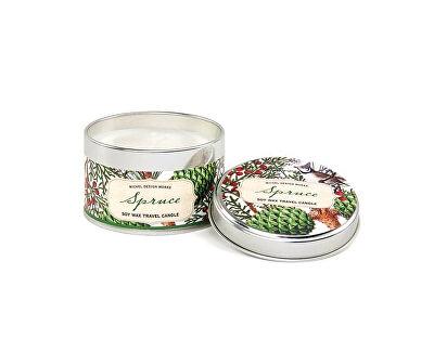 Michel Design Works Přírodní svíčka v plechu Spruce (Soy Wax Travel Candle) 113 g