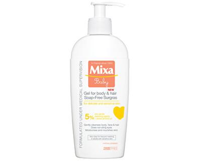 Mixa Extra vyživující mycí gel na tělo a vlásky pro děti 5% 250 ml
