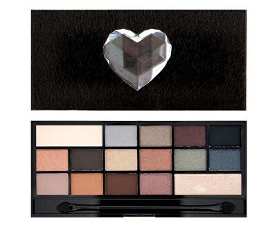 Makeup Revolution Chlupatá paletka očních stínů Svlečená I LOVE MAKEUP (Wonder Palette Naked Underneath (Fur)) 22 g
