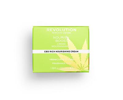 Bohatý výživný krém pro dehydratovanou a suchou pleť Revolution Skincare (CBD Rich Nourishing Cream) 50 ml