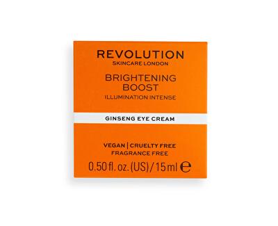 Cremă de ochi Revolution Skincare Brightening Boost (Ginseng Eye Cream) 15 ml