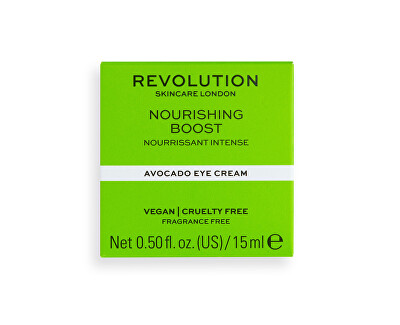 Cremă de ochi Revolution Skincare Nourishing Boost (Avocado Eye Cream) 15 ml