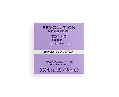 Cremă de ochi Revolution Skincare Toning Boost (Bakuchiol Eye Cream) 15 ml
