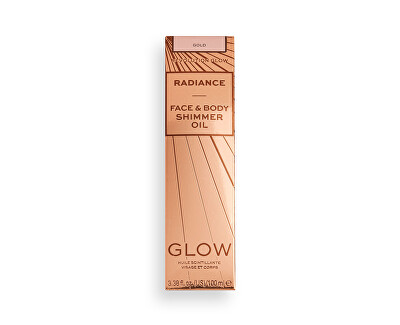 Iluminator lichid Revolution Glow (Radiance Face & {{Body Shimmer Oil Gold100 ml