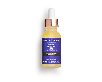 Hydratační sérum v oleji na noc Skincare Night Restore Oil (Squalana And Evening Primrose Oil) 30 ml - SLEVA - poškozená krabička