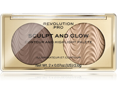 Konturovací paletka Sculpt and Glow Savanna Nights PRO (Contour And Highlight Palete) 4 g