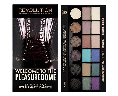 Limitovaná paletka 18 očných tieňov Welcome to the Pleasuredome