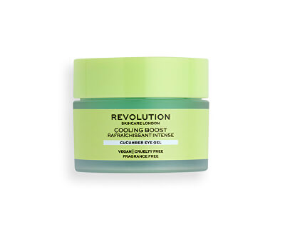Gel de ochi Revolution Skincare Cooling Boost (Cucumber Eye Gel) 15 ml