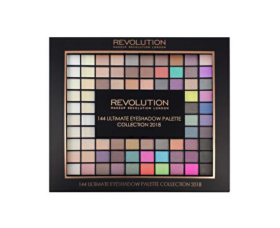 Makeup Revolution Paletka 144 očních stínů (Ultimate Eye Shadow Palette Collection 2018) 116 g