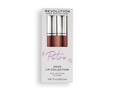 Sada na rty X Petra XOXO (Lip Collection) 3 x 3 ml