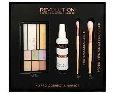 Makeup Revolution Sada na korekci pleti HD Pro Correct & Perfect