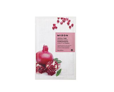 Plátýnková 3D maska s granátovým jablkem pro vitalitu a zpevnění pleti Joyful Time (Essence Mask Pomegranate) 23 g