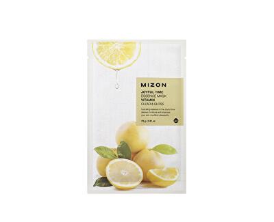 Plátýnková 3D maska s vitamínem C pro rozjasnění a vitalitu pleti Joyful Time (Essence Mask Vitamin) 23 g