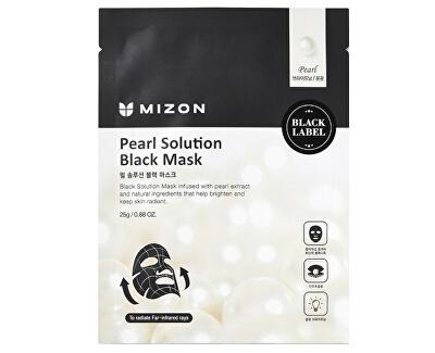 Világító maszk gyöngykivonatokkal (Pearl Solution Black Mask) 25 g