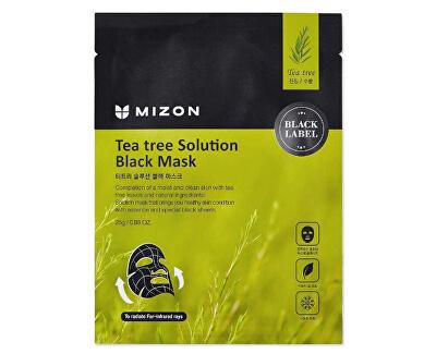 Zklidňující pleťová maska s čajovníkem (Tea Tree Solution Black Mask) 25 g