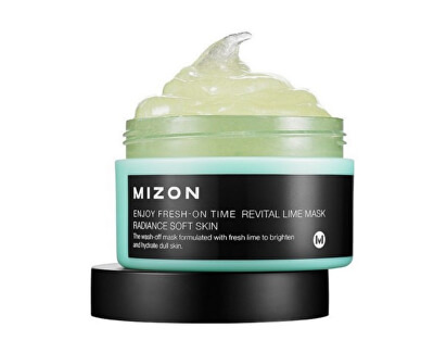 Mizon Revitalizační maska s limetkou na povadlou pleť (Enjoy Fresh-On Time Revital Lime Mask Radiance Soft Skin) 100 ml