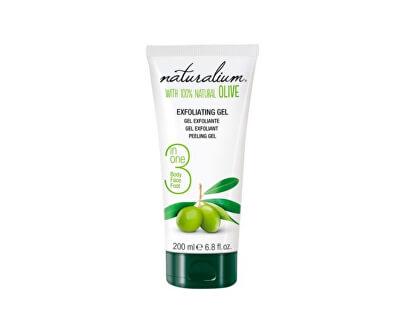 Naturalium Tělový peelingový gel s olivovým olejem 3v1 (Exfoliating Gel) 200 ml