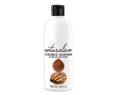 Naturalium Regenerační koupelový a sprchový gel s bambuckým máslem a makadamiovým olejem (Nuts Shea And Macadamia Bath And Shower Gel) 500 ml