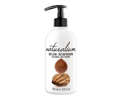 Naturalium Regenerační tělové mléko s výtažkem z karité a makadamiovým ořechem (Body Lotion Shea & Macadamia) 370 ml