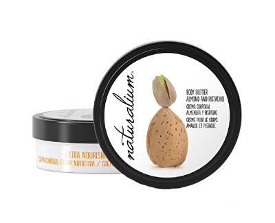 Naturalium Tělové máslo s výtažkem z mandlí a pistácií (Extra Nourishing Body Butter Almond & Pistachio) 200 ml