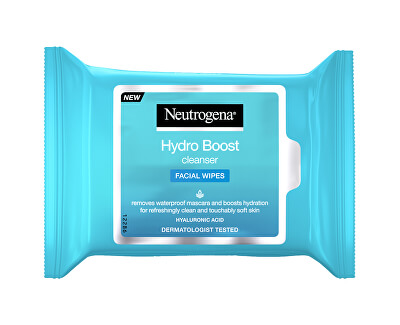 Vlhčené odličovací ubrousky Hydro Boost (Facial Wipes) 25 ks