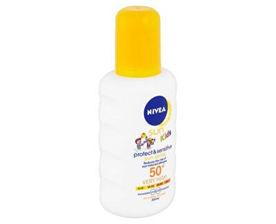 Detský sprej na opaľovanie SPF 50+ Sun Kids ( Sensitiv e Protect & Care Sun Spray) 200 ml