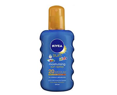 Nivea Dětský barevný sprej na opalování SPF 20 Sun Kids (Caring Sun Spray) 200 ml
