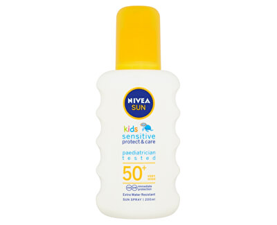 Nivea Dětský sprej na opalování SPF 50+ Sun Kids (Sensitive Protect & Care Sun Spray) 200 ml