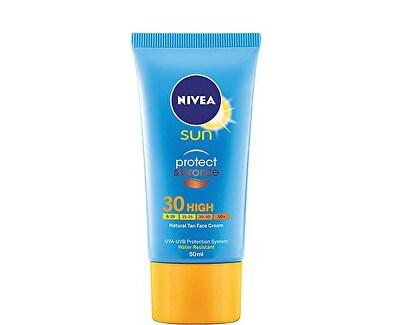 Nivea Intenzivní pleťový krém na opalování SPF 30 Sun (Protect & Bronze Face Cream) 50 ml