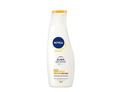 Nivea Mléko na opalování SPF 50 Sun (Pure & Sensitive Sun Lotion) 200 ml