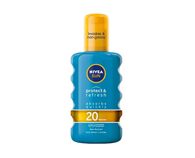 Neviditelný sprej na opalování SPF 20 Sun (Invisible Protection Transparent Spray) 200 ml