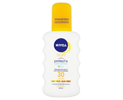 Nivea Sprej na opalování SPF 30 Sun (Pure & Sensitive Sun Spray) 200 ml