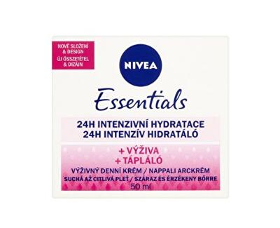 Výživný denní krém pro suchou a citlivou pleť Essentials 50 ml - SLEVA - poškozená krabička