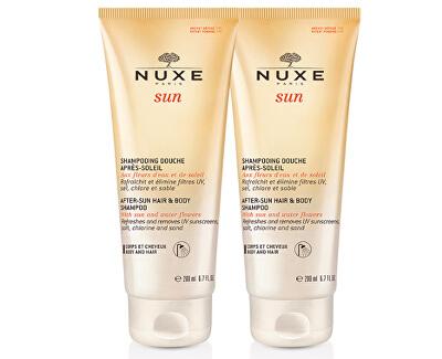 Šampon po opalování na tělo a vlasy Sun (After-Sun Hair & Body Shampoo) 2 x 200 ml