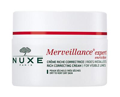 Nuxe Pleťový krém proti vráskám pro suchou pleť Merveillance Expert Enrichie (Rich Correcting Cream Visible Lines) 50 ml