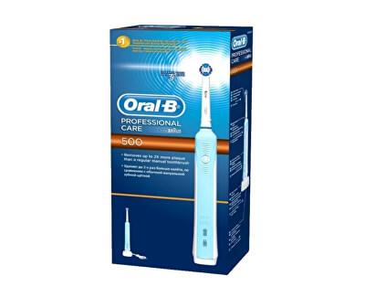 Oral B Zubní elektrický kartáček Pro 500 + 1 hlavice (Cross Action)