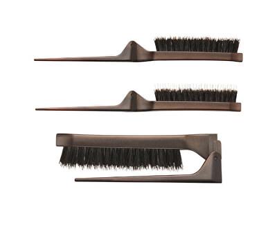 Perie de păr pliantă cu peri de mistreț Style Up Combo