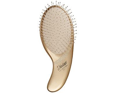 Perie aurie pentru pieptănarea părului ud cu peri de nailonDivine Wet Detangler