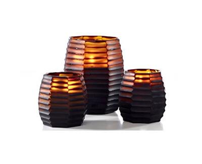 ONNO Vonná svíčka Brown Cubo Sage
