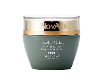 Denní vyhlazující krém proti vráskám NovAge Ecollagen Wrinkle Power SPF 30 (Wrinkle Smoothing Day Cream SPF 30) 50 ml