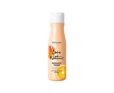 Loțiune iluminatoare cu caise organice și portocale Love Nature (Radiance Toner) 150 ml